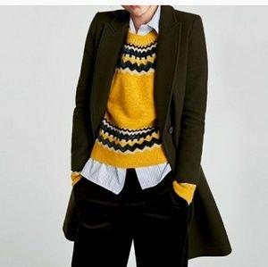 Zara tailored wool coat